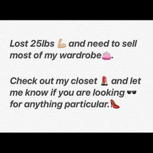 Most of my wardrobe.